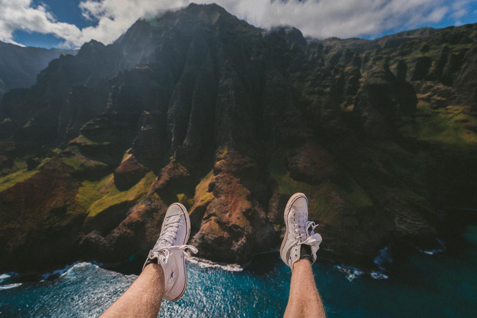 The relaxing ocean waves
